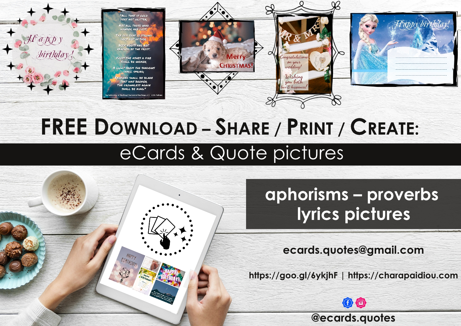 Download Share And Or Print ECards Birthday Cards Greeting Card Famous Quotes Pictures Aphorism Proverb Lyrics Totally Free